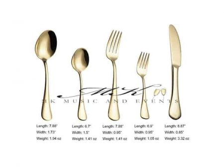 Gold Flatware Rental Miami
