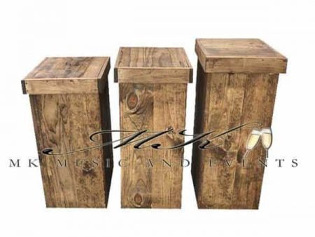 Rustic pedestals rental - Event rentals , party rentals , wedding rentals