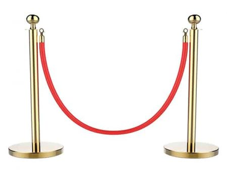Gold stanchion post rental - Event rentals , party rentals , wedding rentals
