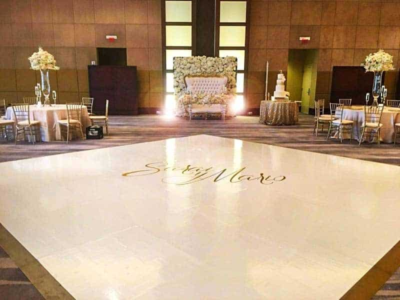 Wedding Rentals in Miami - Dance floor wrap