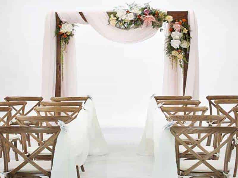 Wood ceremony arch rental miami