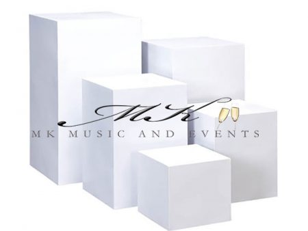 White pedestals rental - Event rentals , party rentals , wedding rentals
