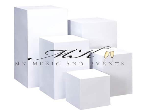 White pedestals rental - Event rentals , party rentals , wedding rentals