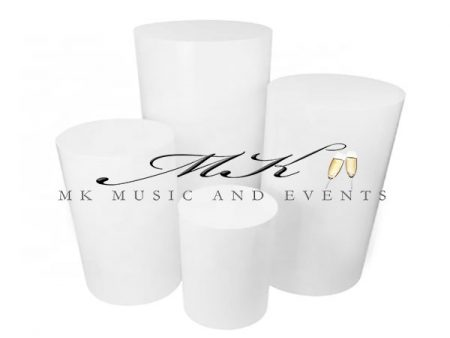 Round pedestals rental - Event rentals , party rentals , wedding rentals