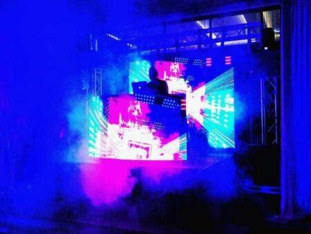 Led screen, stage, lighting, special effects, truss & AV