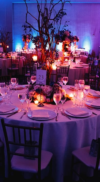 table in party room